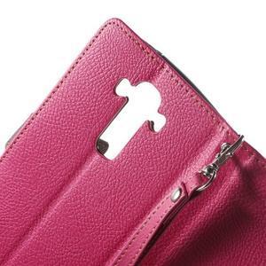 Leaf peněženkové pouzdro na mobil LG G4 - rose - 5