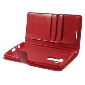 Luxury PU kožené pouzdro na mobil LG G4 - červené - 5