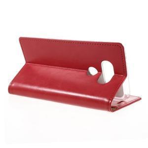 Luxury PU kožené puzdro pre mobil LG G5 - červené - 5