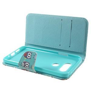 Wall peňaženkové puzdro pre LG G5 - malej sovy - 5