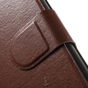 Horse PU kožené peňaženkové puzdro pre LG G5 - hnedé - 5