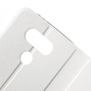 Horse PU kožené peňaženkové puzdro pre LG G5 - biele - 5