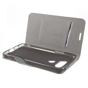 Horse PU kožené peněženkové pouzdro na LG G5 - černé - 5