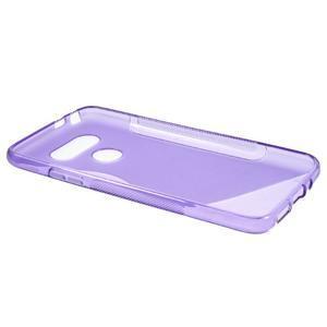 S-line gélový obal pre mobil LG G5 - fialový - 5