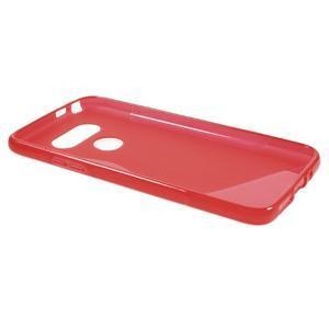 S-line gélový obal pre mobil LG G5 - červený - 5