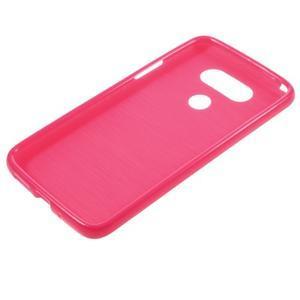 Lesklý gélový obal pre mobil LG G5 - rose - 5