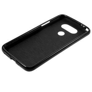 Lesklý gélový obal pre mobil LG G5 - čierny - 5