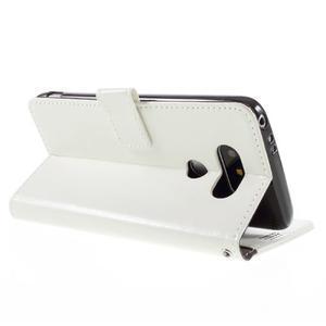 Wax peňaženkové puzdro pre LG G5 - biele - 5