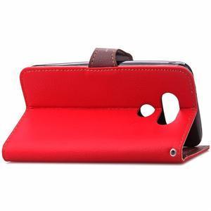 Leaf PU kožené pouzdro na LG G5 - červené - 5