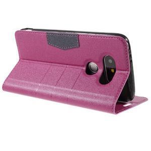 Klopové peneženko puzdro pre LG G5 - rose - 5