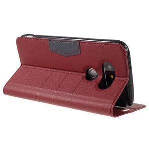 Klopové peneženkové pouzdro na LG G5 - červené - 5