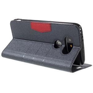 Klopové peňaženkové puzdro pre LG G5 - sivé - 5