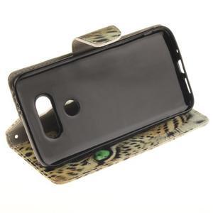 Obrázkové koženkové puzdro pre LG G5 - mačička - 5
