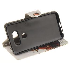 Obrázkové koženkové pouzdro na LG G5 - vlk - 5