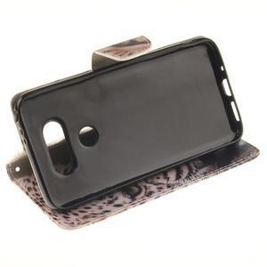 Obrázkové koženkové pouzdro na LG G5 - leopard - 5