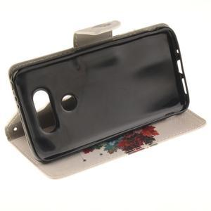 Obrázkové koženkové puzdro pre LG G5 - farebný strom - 5