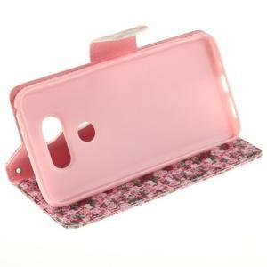 Obrázkové koženkové puzdro pre LG G5 - růže - 5
