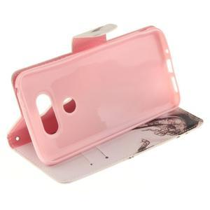 Obrázkové koženkové pouzdro na LG G5 - pekelný střevíc - 5