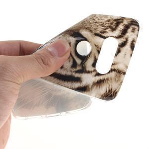 Softy gelový obal na mobil LG G5 - bílý tygr - 5