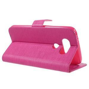 Cloth koženkové peňaženkové puzdro pre LG G5 - rose - 5