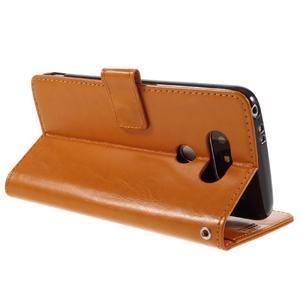 Wax peňaženkové puzdro pre LG G5 - oranžové - 5