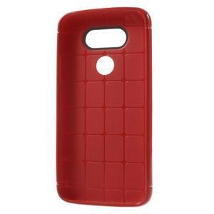 Rubby gélový kryt pre LG G5 - červený - 5