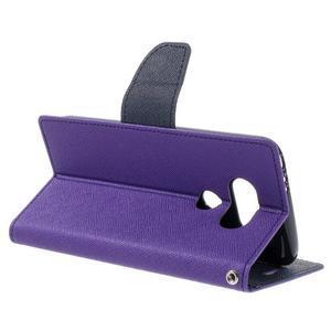 Goos stylové PU kožené pouzdro na LG G5 - fialové - 5