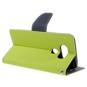 Goos stylové PU kožené puzdro pre LG G5 - zelené - 5