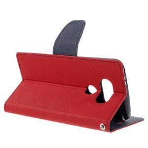 Goos stylové PU kožené puzdro pre LG G5 - červené - 5