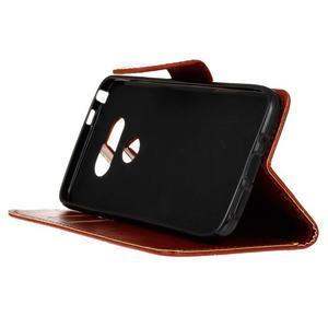 Lees peňaženkové puzdro pre LG G5 - hnedé - 5