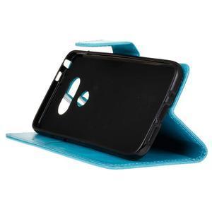 Lees peňaženkové puzdro pre LG G5 - modré - 5