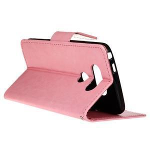 Lees peňaženkové puzdro pre LG G5 - ružové - 5