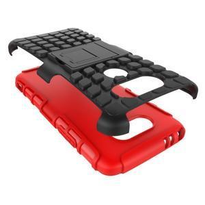 Outdoor odolný obal pre mobil LG G5 - červený - 5