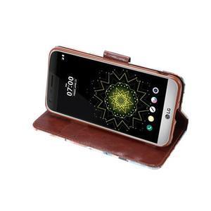 Kvetinové puzdro pre mobil LG G5 - biely vzor - 5