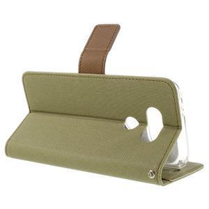 Diary PU kožené pouzdro na mobil LG G5 - khaki - 5