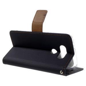 Diary PU kožené puzdro pre mobil LG G5 - čierne - 5