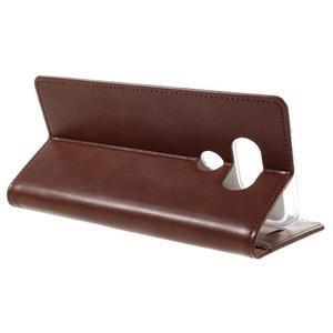 Luxury PU kožené puzdro pre mobil LG G5 - hnedé - 5