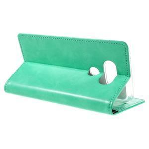 Luxury PU kožené puzdro pre mobil LG G5 - cyan - 5