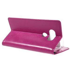 Luxury PU kožené pouzdro na mobil LG G5 - rose - 5