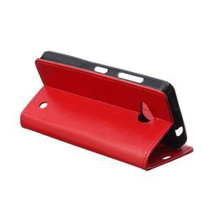 GX koženkové puzdro pre mobil Microsoft Lumia 550 - červené - 5