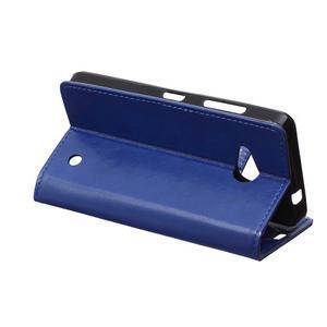 GX koženkové puzdro pre mobil Microsoft Lumia 550 - modré - 5