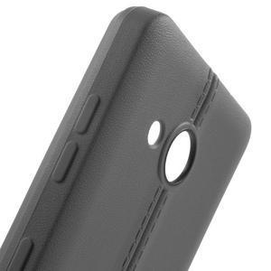 Lines gélový kryt so švy na Microsoft Lumia 550 - šedý - 5