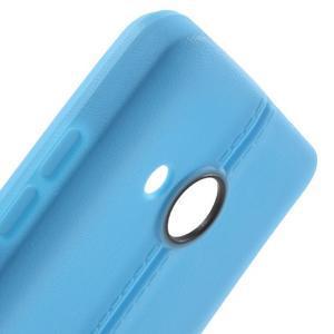 Lines gélový kryt so švy na Microsoft Lumia 550 - modrý - 5
