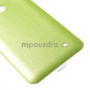 Gélový kryt s imitáciou kože pre Microsoft Lumia 640 - zelený - 5