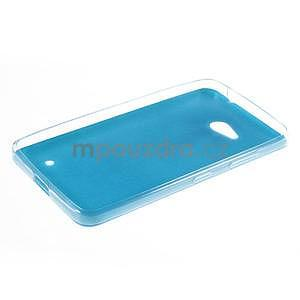 Gélový kryt s imitáciou kože pre Microsoft Lumia 640 - modrý - 5