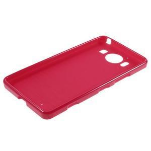 Jelly gelový obal na Microsoft Lumia 950 - červený - 5