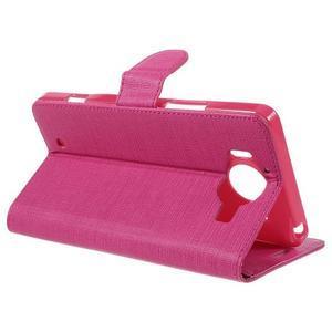 Cloth Peňaženkové puzdro pre mobil Microsoft Lumia 950 - rose - 5
