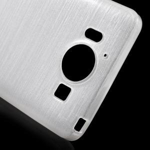 Brush hladký gelový obal na Microsoft Lumia 950 - bílý - 5