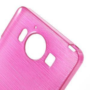 Brush hladký gelový obal na Microsoft Lumia 950 - rose - 5