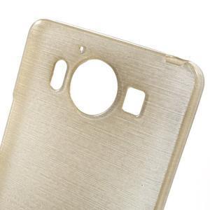 Brush hladký gelový obal na Microsoft Lumia 950 - zlatý - 5